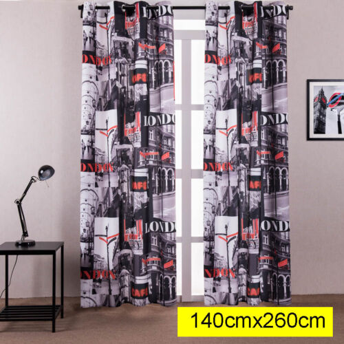 Window Curtains Blackout Room Thermal Insulated Kids Boy Girls Bedroom Decor
