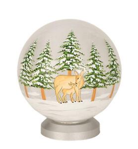Weihnachtskugel Glas Kugel Rehe Led Beleuchtet I3171 Dekokugel