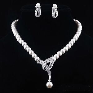 Parure-collier-boucles-d-039-oreilles-perles-blanche-strass-cristall-swarovski