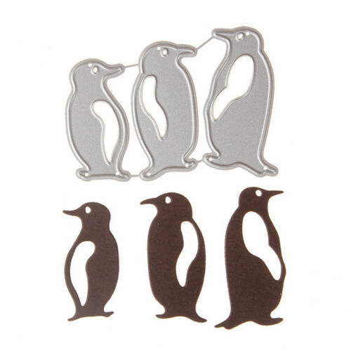 Lovely Penguin Shape Scrapbooking DIY Sharp Cutting Dies Photo Album Art Card FG