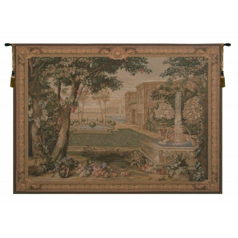 Verdure Fontaine French Tapestry Wall Hanging