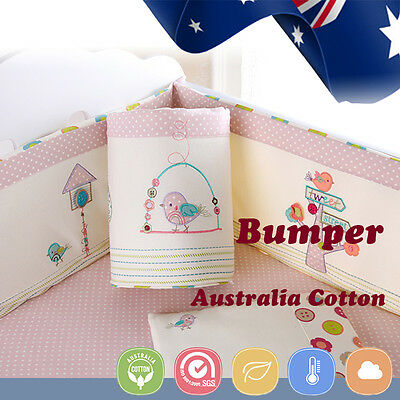 Baby Cot Crib Bedding Bumper Kid Toddler Newborn Gift 100/% Pure Cotton Soft Pink