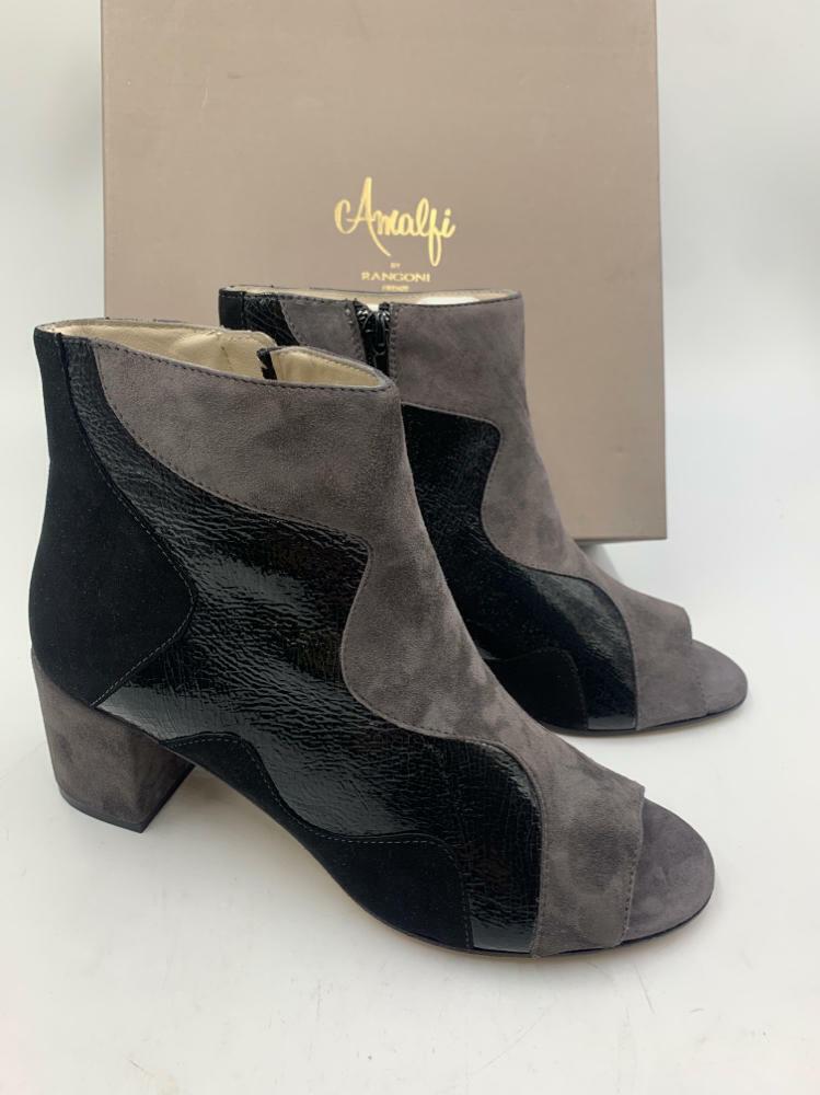 Amalfi by Rangoni Women's Caterina Fashion Boot, Black/Anthricite , 9 M US