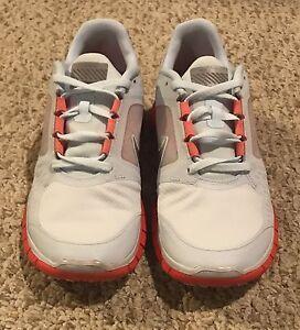9f6c0d733f53 Nike Free Run+ 3 Shield Pack Women s Size 10 Silver Bright Crimson ...