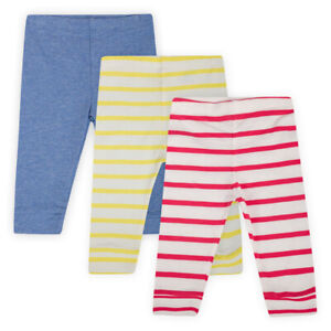 Baby-Girls-Red-Yellow-Blue-Stripes-Kids-Stretch-Jersey-Cotton-Leggings-Trousers