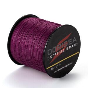 Power-Braid-500m-6LB-300LB-Dorisea-Purple-PE-Dyneema-Braided-Fishing-Line-Pro