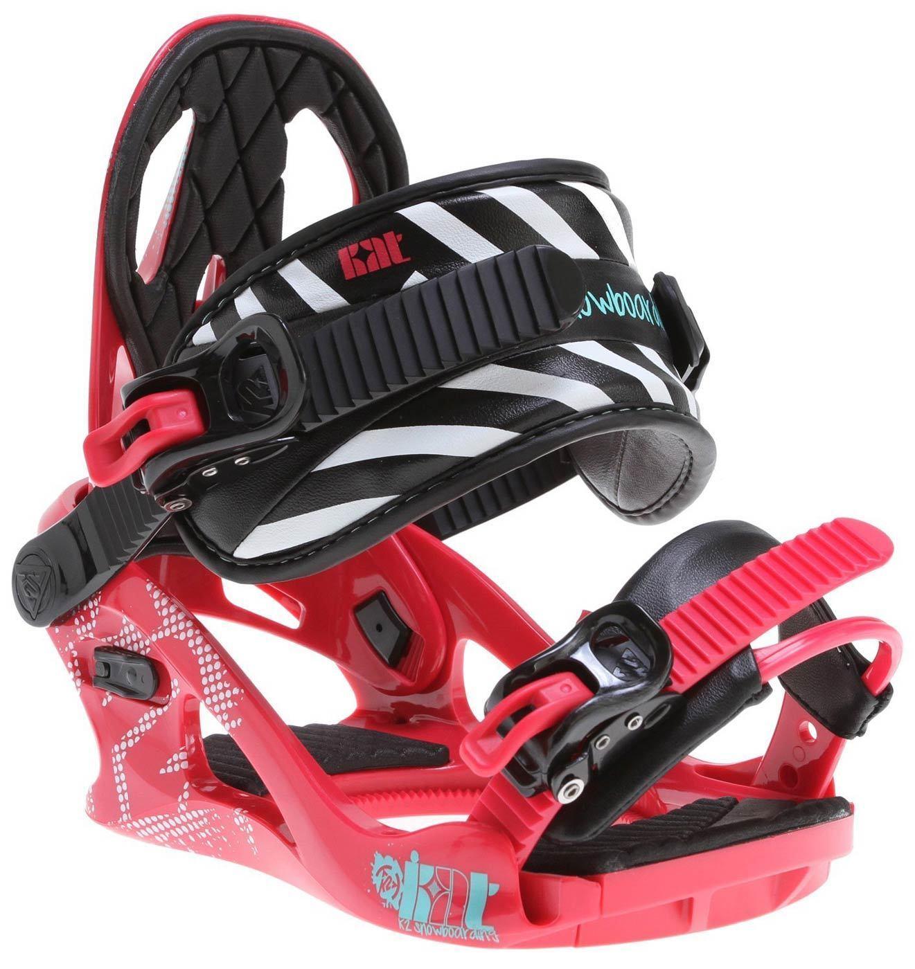 K2 KAT Snowboard Bindung Binding  Pink, Snowboardbindung Size S (33-36)