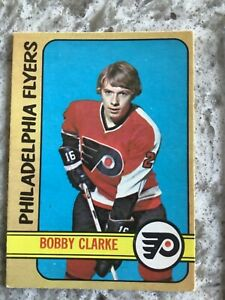 1972/73 O-PEE-CHEE NHL HOCKEY CARD #14 BOBBY CLARKE EX/NM SHARP!! R500