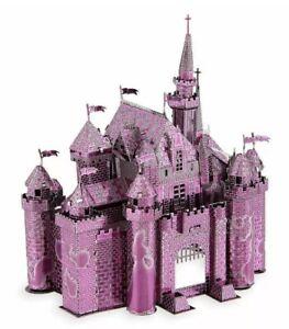 Disney-Metal-Earth-Color-3D-Model-Kit-Sleeping-Beauty-Castle-Pink-NEW