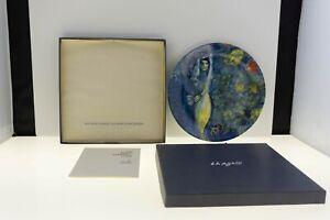 Vintage Marc Chagall Ltd EDT Plate By Georg Jensen In Original Box, 1972 EXC.