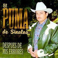 El Puma De Sinaloa : Despues De Mis Errores CD