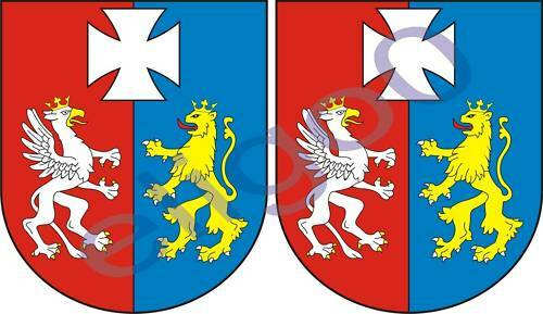 2x podkarpackie POLAND coat of arms bumper stickers