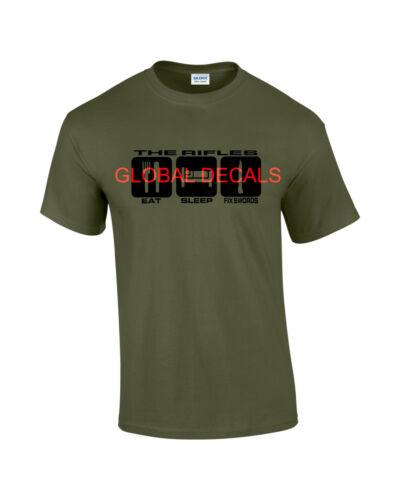 THE RIFLES Eat Sleep Fix Swords T-shirt