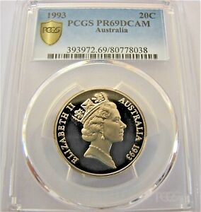 1993-20-cent-PROOF-slabbed-coin-PCGS-PR69-DCAM-Very-high-grade-High-C-V