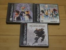 Final Fantasy 8, 9,  & Anthology - 3 Playstation 1 Game Lot - VIII - IX - PS2