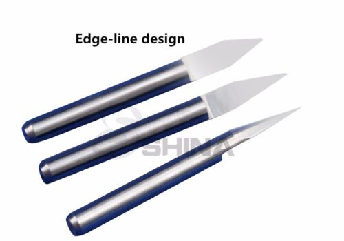 "5x 1//8/"" 3.175mm 20 deg 0.1mm Tungsten Carbide Engraving Bits CNC Router Tool"