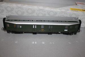 Piko-53321-10-4-Achser-Personenzug-Postwagen-Post4ue-a-17-DBP-Ep-IIIa-Spur-H0-OVP