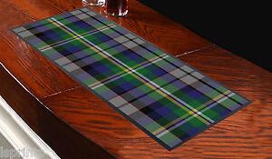 Blue-amp-Green-Tartan-Design-5-Bar-Towel-Runner-Pub-Mat-Beer-Cocktail-Party-Gift