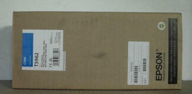 Epson  T5962 Tinte cyan  Stylus Pro 7700 7890 7900 9700 9890  2019 OVP