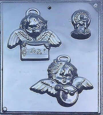Angels W/harp & Drum Including Candle Chocolate Candy Mold #c070 Guc Kitchen, Dining & Bar Home & Garden
