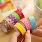 5pcs 1.5cm Washi Paper Sticky Adhesive Sticker Tape Decorative DIY Crafts