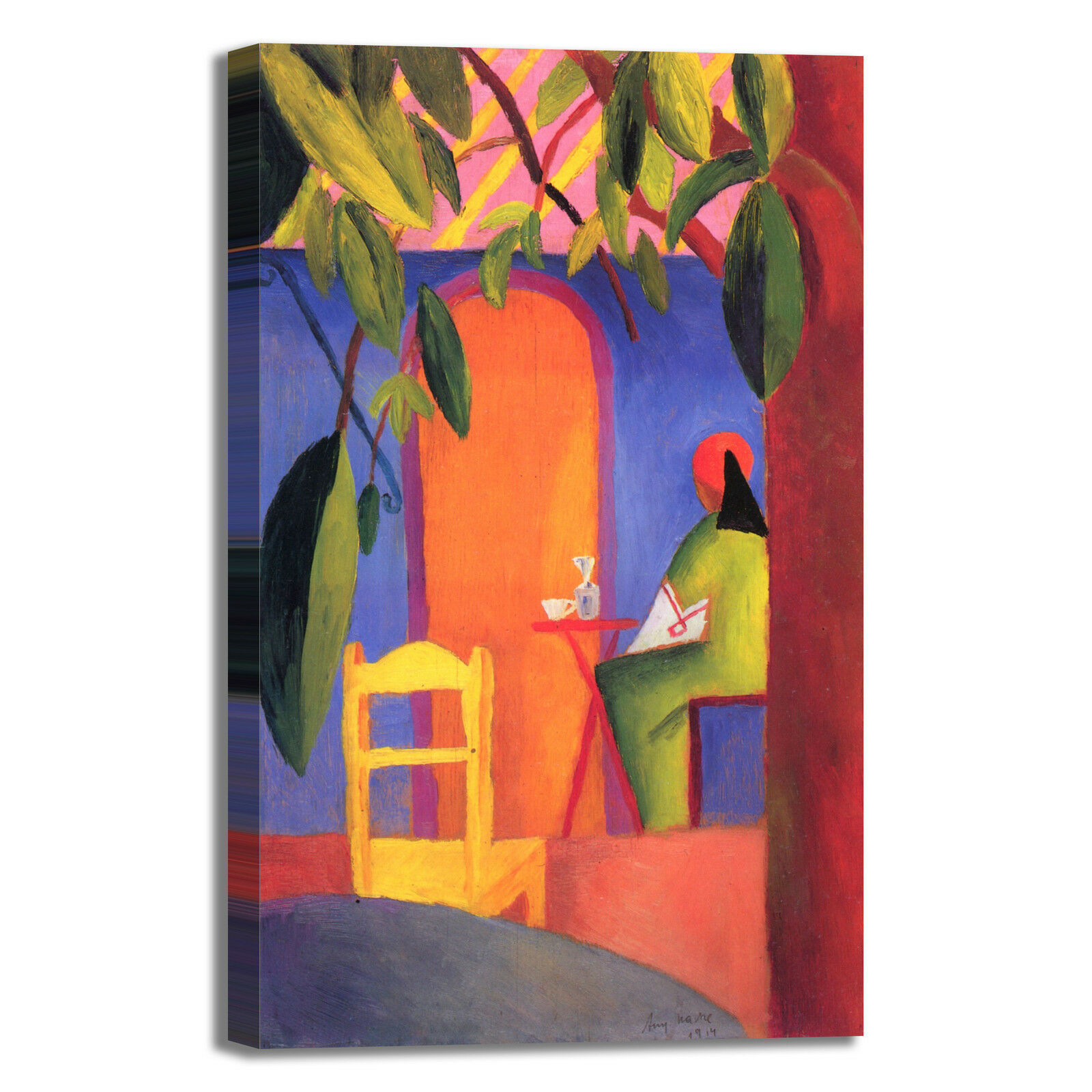 Macke turkisches cafe design quadro dipinto stampa tela dipinto quadro telaio arRouge o casa 3f27ea