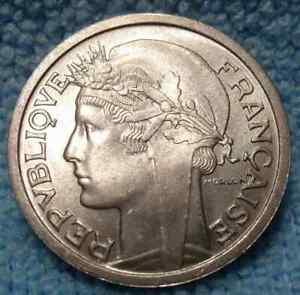 France 1 Franc, 1959 Gem Unc~Last Year~Cornucopias~Laureate Head~Free Ship