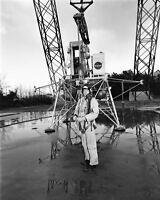 8x10 Nasa Photo: Astronaut Neil Armstrong, First Man On The Moon - 1969