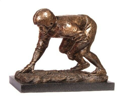 New Original Sculpture Lineman Football Trophies