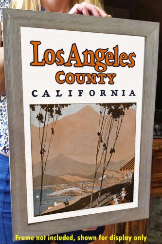 circa 1930 Advertising Poster Los Angeles County