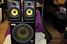 KRK Rokit 10s powered Sub and 2 -Rokit 5 powered Monitor Speakers