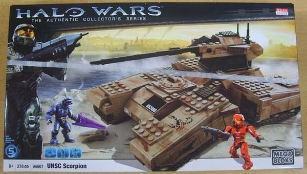 MEGA BLOKS HALO WARS 96807 UNSC SCORPION  278PCS
