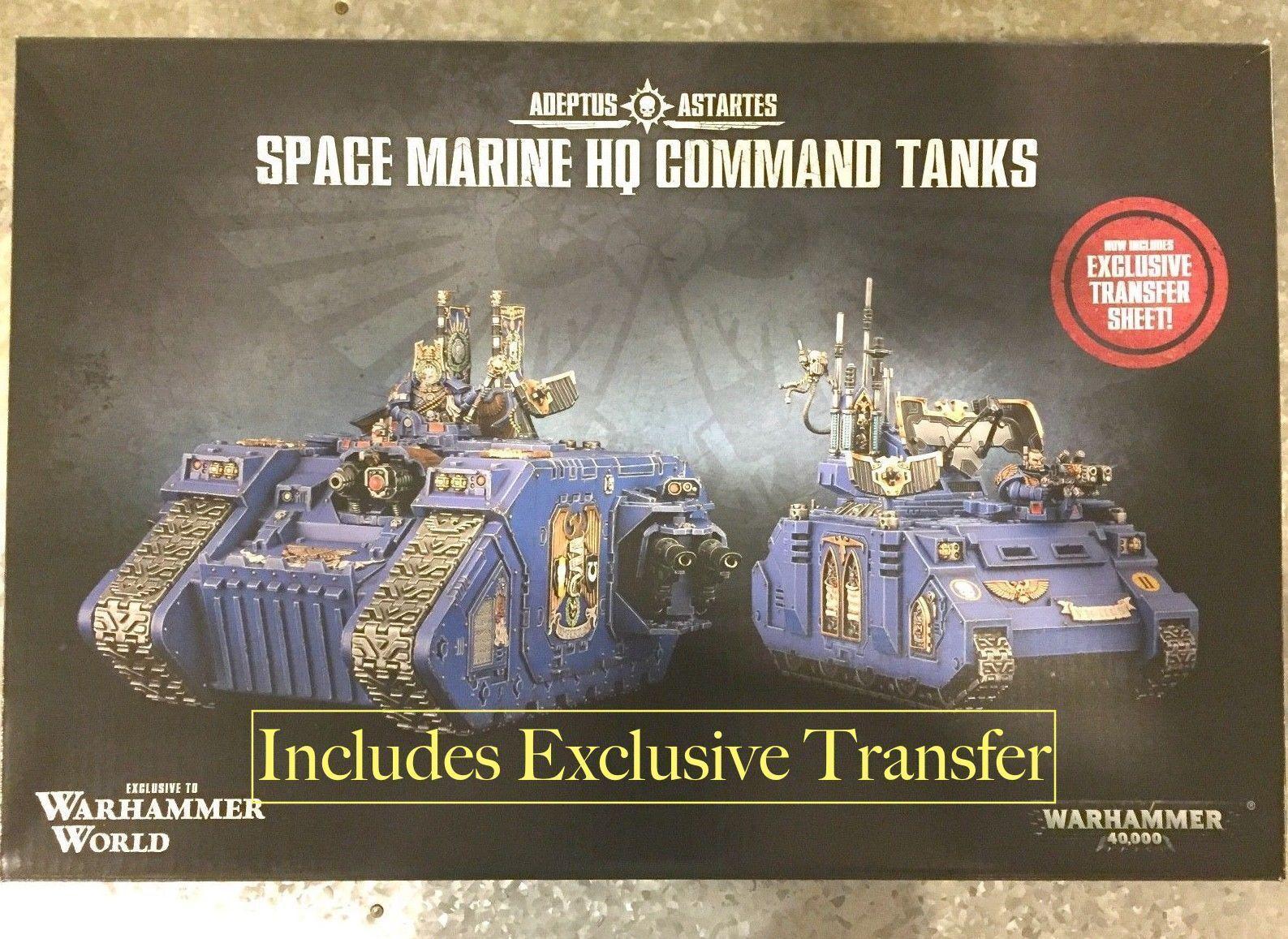 Fuera de paquete evento mundial espacio marino sólo Warhammer Land Raider Excelsior Rhino Primaris