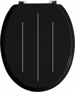 Black-Bathroom-Toilet-Seat-Black-Diamante-Sparkle-Toilet-Seat-Fixings-Included