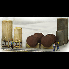 INDUSTRIAL STORAGE TANKS - HO SCALE CORNERSTONE KIT 933-3197