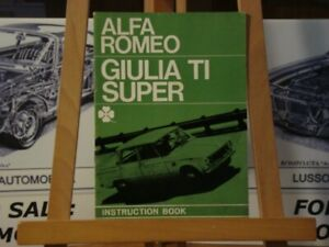 Alfa-romeo-Giulia-TI-Super-instruction-book
