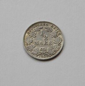 Imperio: 1/2 Marco 1909 J, J. 16 , Excelente /Recién Acuñado, Raro