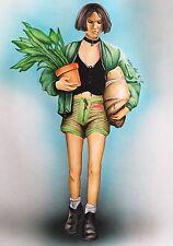 Mathilda Original Drawing .Fan-art A4 .Leon the Professional Natalie Portman