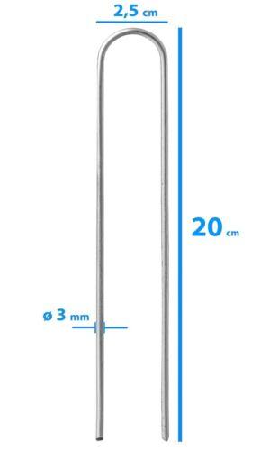250 Erdanker Stahl feuerverzinkt zur Unkrautvlies Befestigung 150x30x3,0