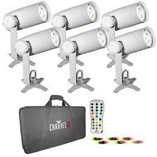 Chauvet DJ EZPIN IRC Six Pack  Wireless Rechargable Battery Pinspot + Color Gels