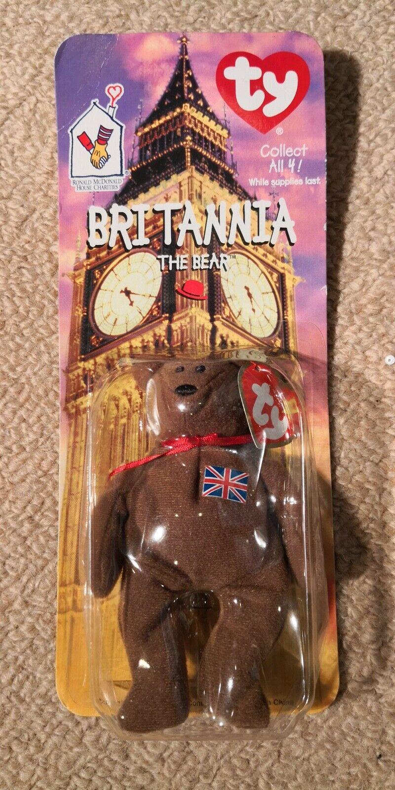 Mcdonalds TY Beanie Baby Britannia The Bear RARE- VINTAGE- ORIGINAL