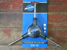 PARK TOOL SW-15 3-Way Internal Spoke NIPPLE WRENCH 3.2mm SQUARE, 5 & 5.5mm HEX