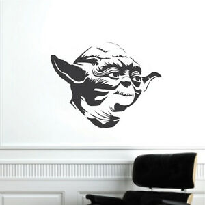 Image is loading Yoda-Wall-Decal-Rebel-Star-Wars-Wallpaper-Mural-  sc 1 st  eBay & Yoda Wall Decal Rebel Star Wars Wallpaper Mural Vinyl The Last Jedi ...