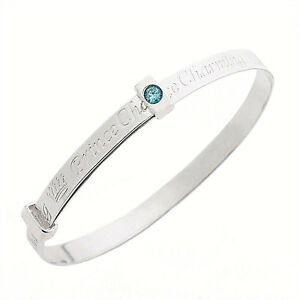 Fine-Silver-Blue-Cubic-Zirconia-Prince-Charming-Expanding-Boys-Baby-Bangle