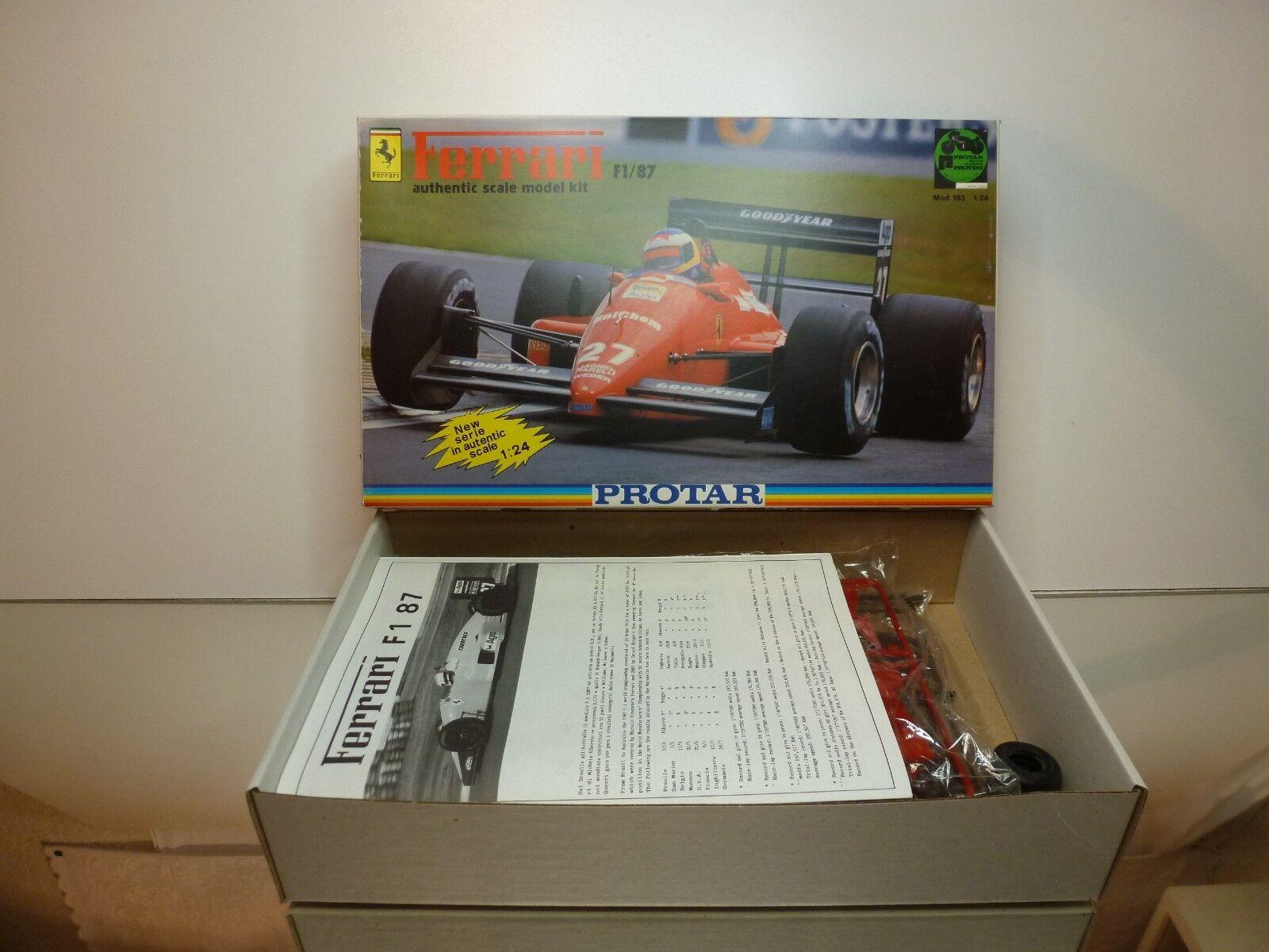 ProssoAR 193 KIT (unbuilt) FERRARI F1 87  27 or  28 - rosso 1 24 - UNBUILT IN BOX