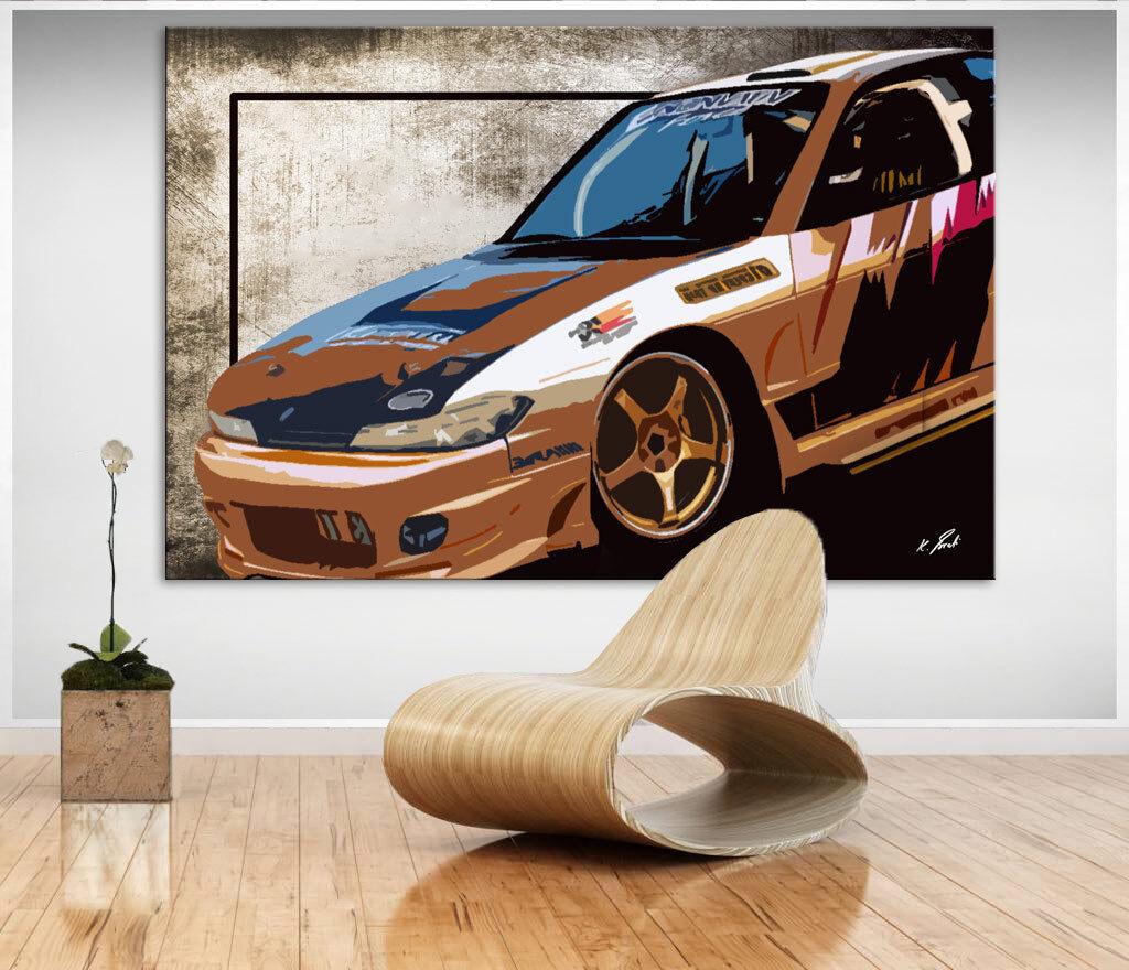 Auto Honda Sportwagen Bild Leinwand Abstrakte Kunst Bilder Wandbilder D1045