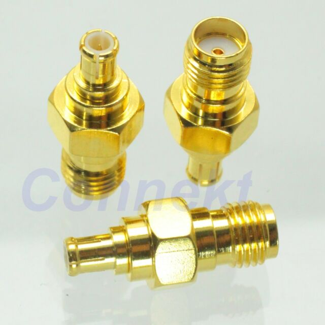 1pce SMA female jack to MCX male plug RF coaxial adapter connector
