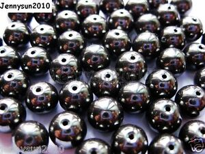 100Pcs-Natural-Hematite-Gemstones-Round-Beads-2mm-3mm-4mm-6mm-8mm-9m-10mm-12mm