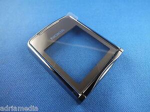Original-Nokia-8800-Sirocco-Silber-Oberschale-Front-A-Cover-Display-Glas-Schale