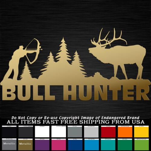 Bull Hunter Elk huge Antlers Bugling Horns bow decal Sticker Wildlife Elkaholic